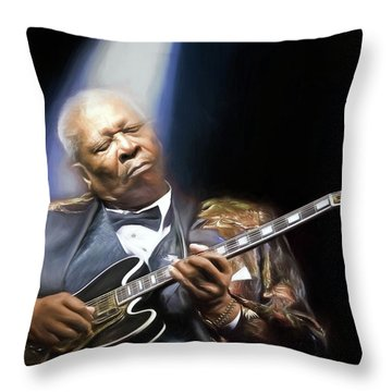 The Thrill Is Gone Throw Pillow