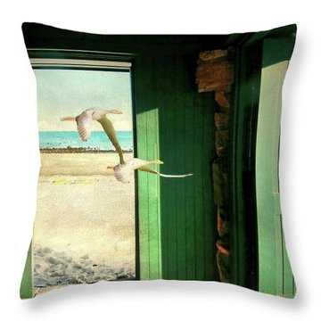 Throw Pillow featuring the photograph The Thruway by Diana Angstadt