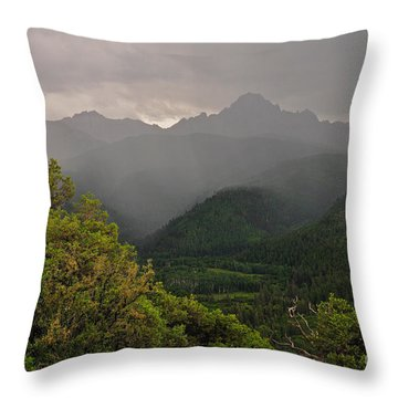 The Thunder Rolls Throw Pillow