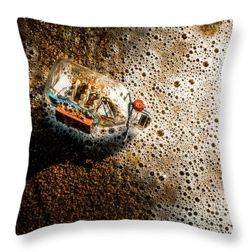 The Tide And Its Takers Throw Pillow