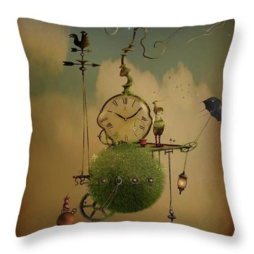 The Time Chasers Throw Pillow