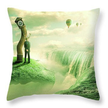 Throw Pillow featuring the digital art The Time Keeper by Nathan Wright