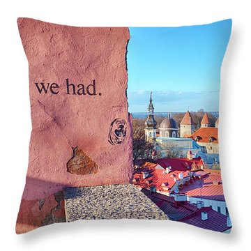 Throw Pillow featuring the photograph The Times We Had by Fabrizio Troiani