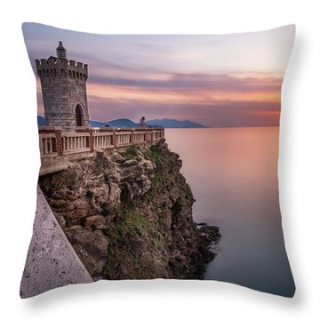 The Tiny Lighthouse Throw Pillow