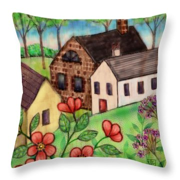 The Tiny Villiage Throw Pillow