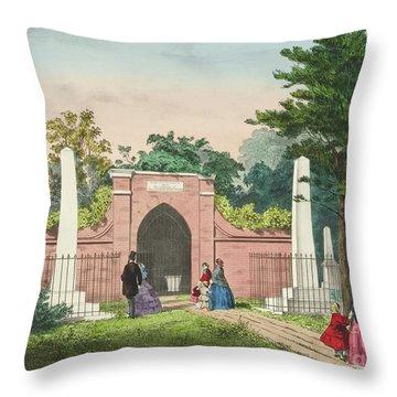 The Tomb Of Washington, Mount Vernon, Virginia  Throw Pillow