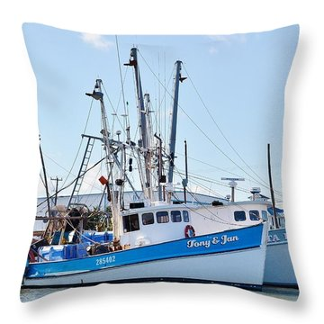 The Tony And Jan - West Ocean City Harbor Throw Pillow