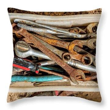 Throw Pillow featuring the photograph The Toolbox by Christopher Holmes