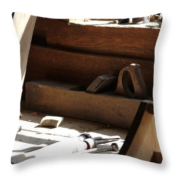 Throw Pillow featuring the photograph The Tools by Laddie Halupa