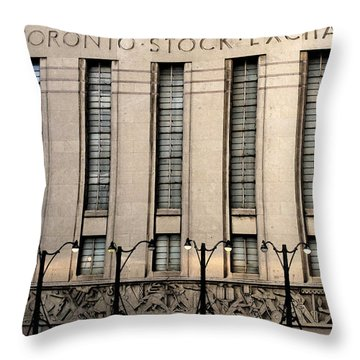 The Toronto Stock Exchange Throw Pillow by Ian  MacDonald