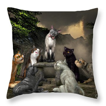 The Torture Of Choosing Throw Pillow by Jutta Maria Pusl