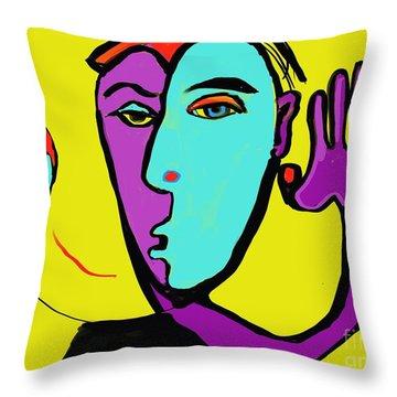 The Toss Throw Pillow by Hans Magden
