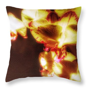 Throw Pillow featuring the photograph The Touch by Isabella F Abbie Shores FRSA