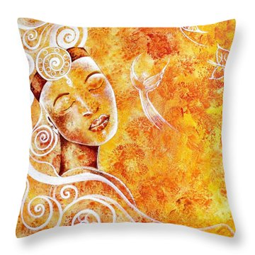 The Touch Of Grace Throw Pillow