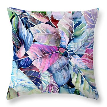 The Touch Of Silence Throw Pillow by Mindy Newman