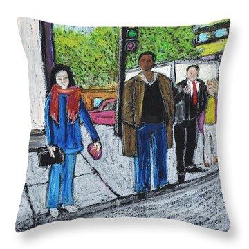 The Tourist Throw Pillow