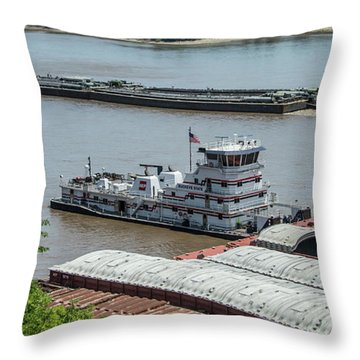 The Towboat Buckeye State Throw Pillow by Garry McMichael
