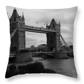 The Tower Bridge Throw Pillow