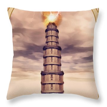 The Tower Throw Pillow by John Edwards
