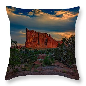 The Tower Of Babel From Park Avenue Throw Pillow