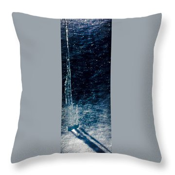 The Tower Of Ice Shadows Throw Pillow