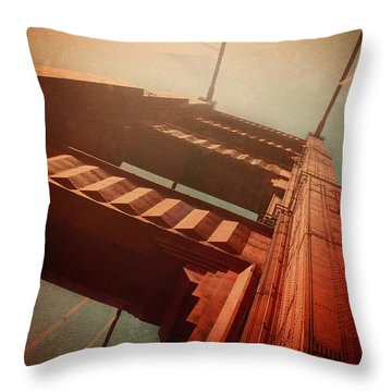 The Towering Golden Gate Throw Pillow