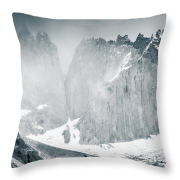 The Towers Throw Pillow by Andrew Matwijec