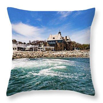 The Towers Of Narragansett  Throw Pillow