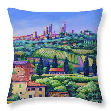 The Towers Of San Gimignano Throw Pillow