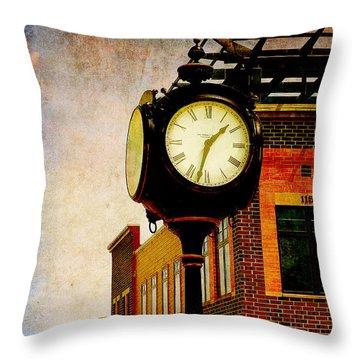 the Town Clock Throw Pillow