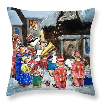 The Town Mouse And The Country Mouse Throw Pillow by Philip Mendoza