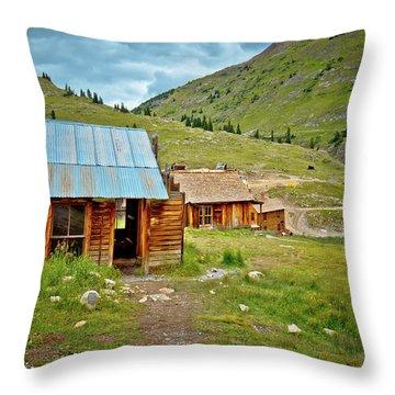 The Town Of Animas Forks Throw Pillow