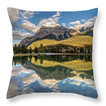 The Town Of Field In British Columbia Throw Pillow