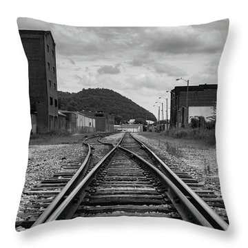 Throw Pillow featuring the photograph The Tracks by Break The Silhouette