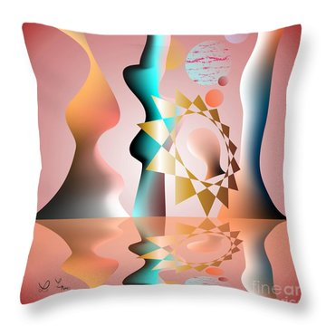 Throw Pillow featuring the digital art The Tradition Founder by Leo Symon