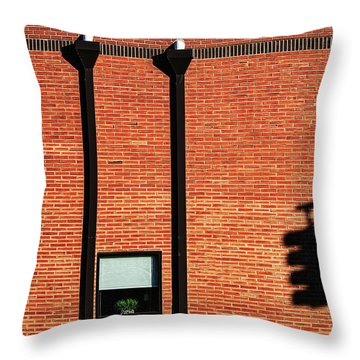 The Traffic Light Intruder Throw Pillow by Gary Slawsky