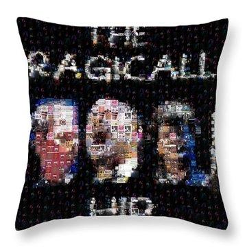 The Tragically Hip Mosaic Throw Pillow by Paul Van Scott