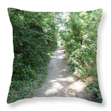 The Trail Behind Me Throw Pillow