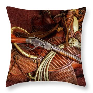The Trail Boss Throw Pillow
