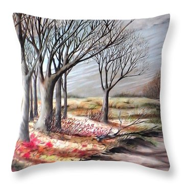 The Trail - Le Chemin Throw Pillow
