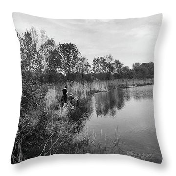 Moving The Water Throw Pillow by Frank J Casella