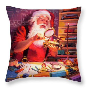The Trainmaster Throw Pillow