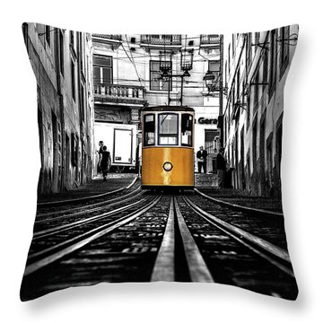The Tram Throw Pillow
