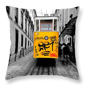 The Tram Throw Pillow by Marwan Khoury