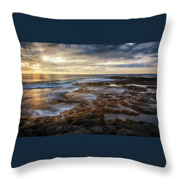 The Tranquil Seas Throw Pillow