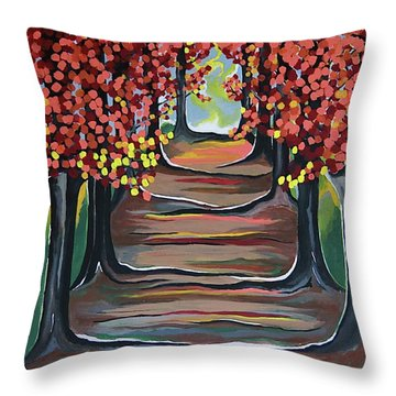 The Tranquility Of Nature Throw Pillow