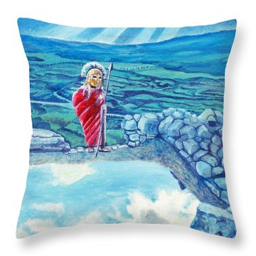 The Transcending Spartan Soldier Throw Pillow