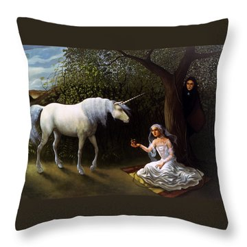 The Trap Throw Pillow by Jane Whiting Chrzanoska