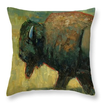 Throw Pillow featuring the painting The Traveler by Billie Colson