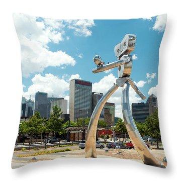 The Traveling Man Dallas 080618 Throw Pillow